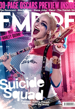 Margot Robbie on the cover of Empire December 2015