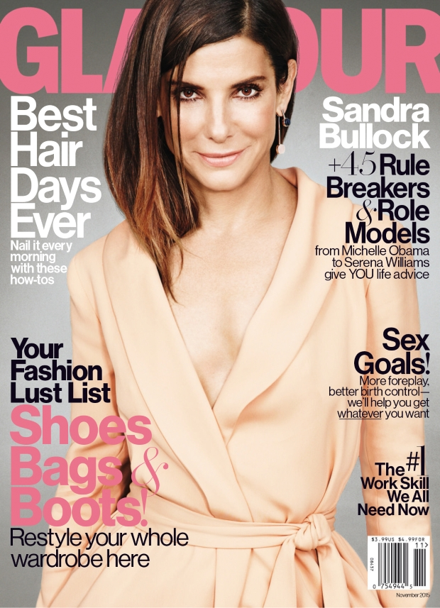 US Glamour November 2015 Sandra Bullock by Matt Irwin