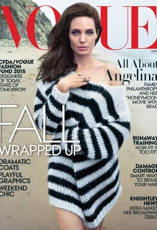 US Vogue November 2015 Angelina Jolie by Annie Leibovitz