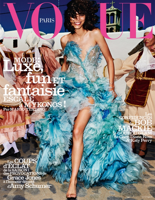 Vogue Paris November 2015 Mica Arganaraz by Mario Testino
