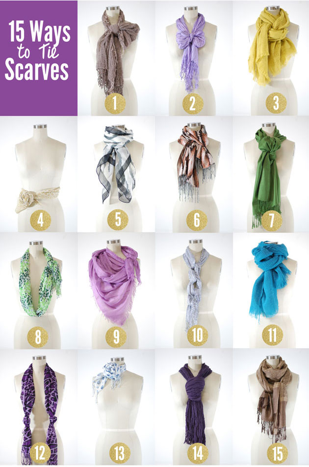 how to tie a scarf 15 ways