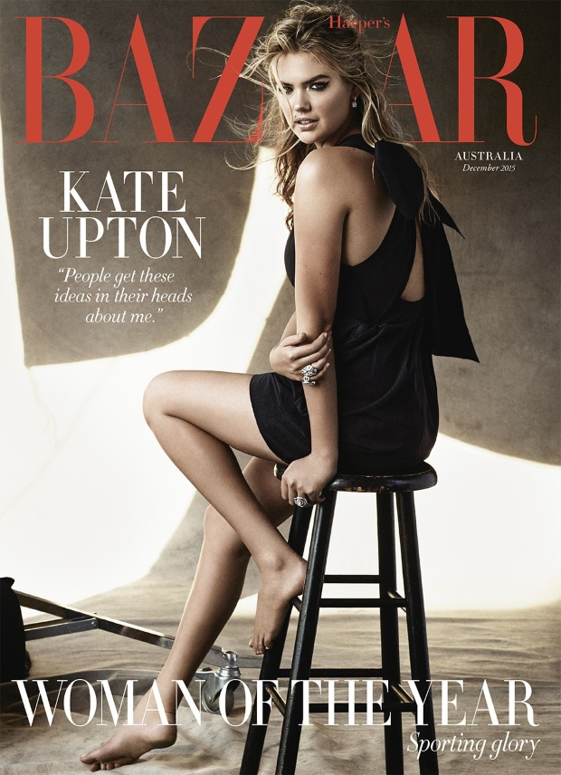 Harper's Bazaar Australia December 2015 : Kate Upton by Victor Demarchelier