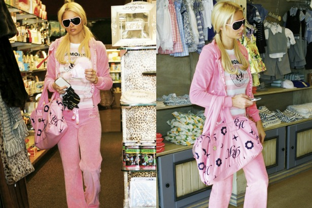 Paris Hilton wears Juicy Couture Tracksuit