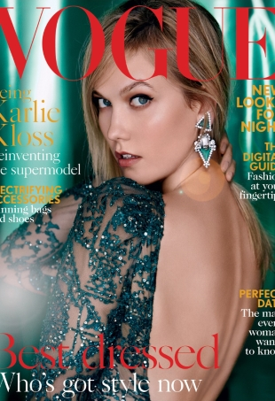 UK Vogue December 2015 Karlie Kloss by Patrick Demarchelier