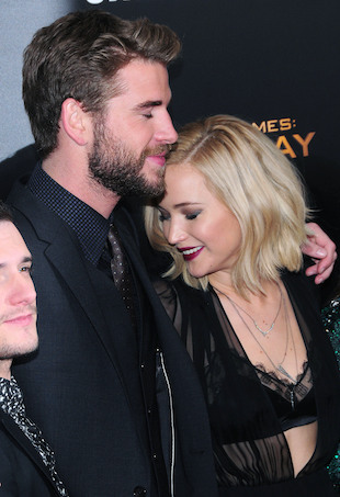 'The Hunger Games: Mockingjay - Part 2' special screening at AMC Lincoln Square - Arrivals Featuring: Liam Hemsworth Jennifer Lawrence Where: New York, United States When: 18 Nov 2015 Credit: Dan Jackman/WENN.com