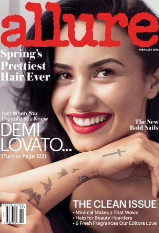 Allure February 2016 : Demi Lovato by Alexi Lubomirski