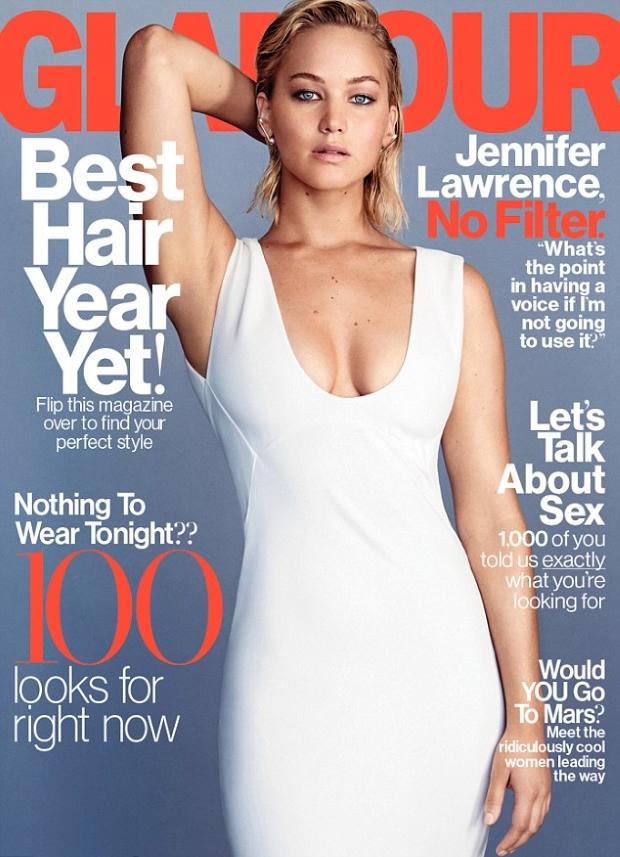 US Glamour February 2016 Jennifer Lawrence by Patrick Demarchelier