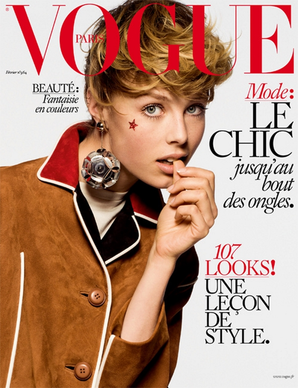 Vogue Paris February 2016 Edie Campbell by Inez and Vinoodh