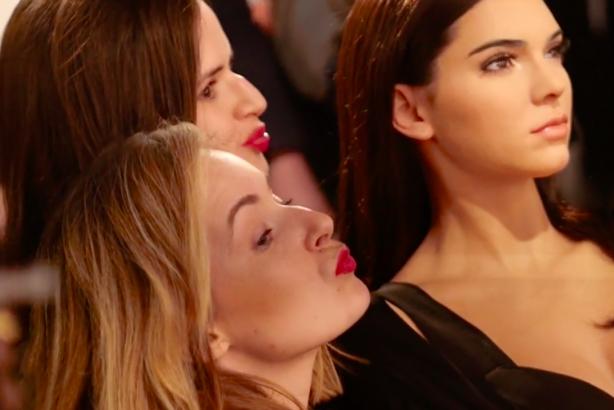Kendall Jenner wax figure