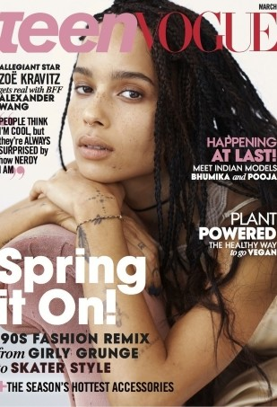 Zoe Kravitz Is a Natural Beauty on the Cover of Teen Vogue (Forum Buzz)