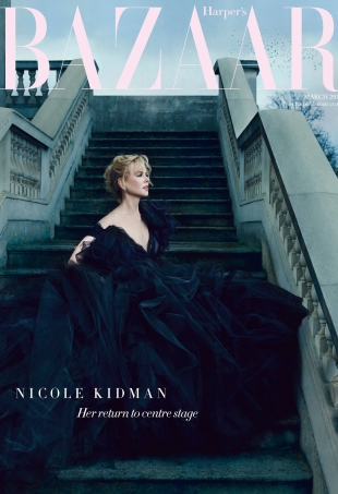 UK Harper's Bazaar March 2016 : Nicole Kidman by Norman Jean Roy