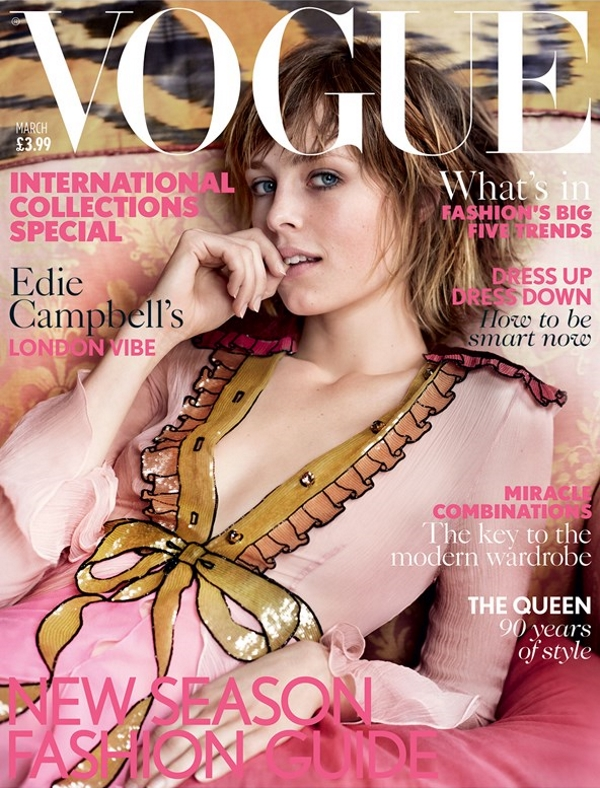 her newfound signature pose on uk vogue s march cover forum buzz