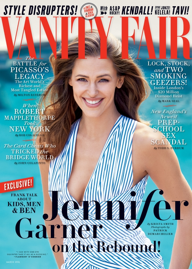 Vanity Fair March 2016 : Jennifer Garner by Patrick Demarchelier
