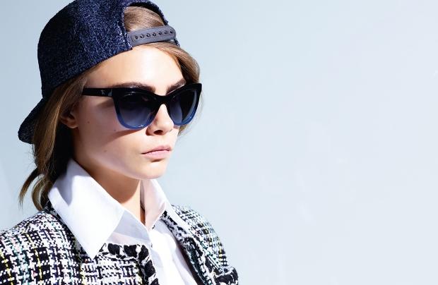 Chanel Eyewear S/S 2016 : Cara Delevingne by Karl Lagerfeld
