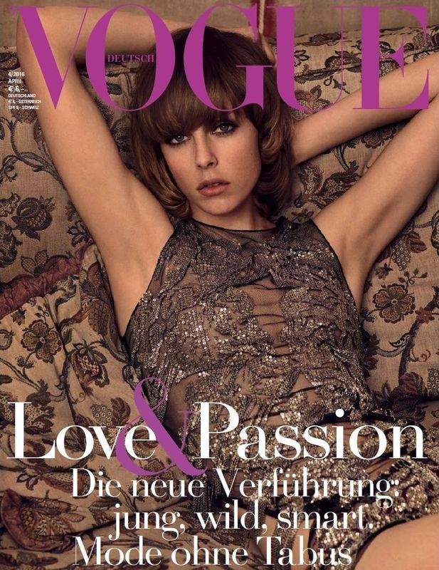 Vogue Germany April 2016 : Edie Campbell by Luigi & Iango