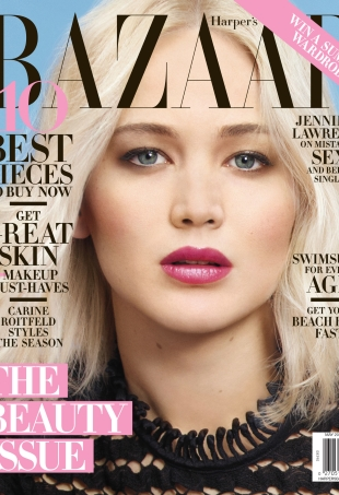 US Harper's Bazaar May 2016 : Jennifer Lawrence by Mario Sorrenti