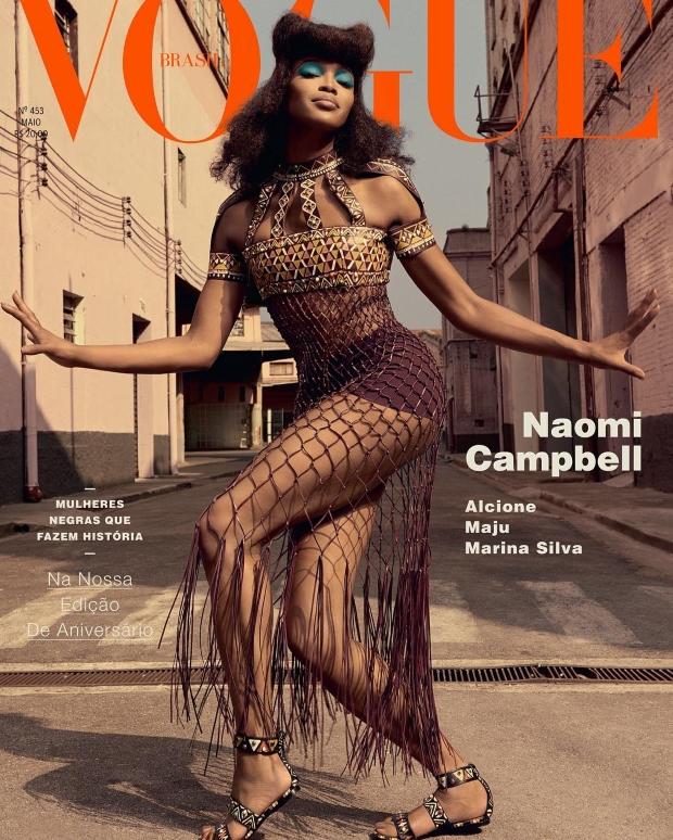 Vogue Brazil May 2016 : Naomi Campbell by Zee Nunes