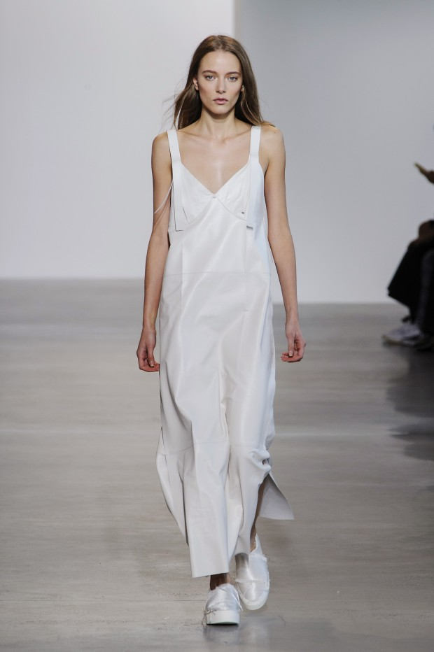 Slip dress sighting at Calvin Klein Spring 2016.