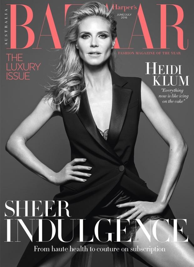 Harper's Bazaar Australia June/July 2016 : Heidi Klum by Rankin