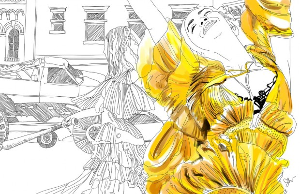 illustrator jessie kanelos weiner recreated scenes from beyoncs full length visual album - Beyonce Coloring Book