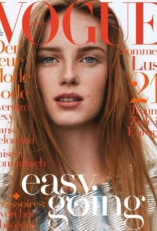 Vogue Germany Ruins a Gorgeous Rianne van Rompaey Cover With Too Much Text (Forum Buzz)