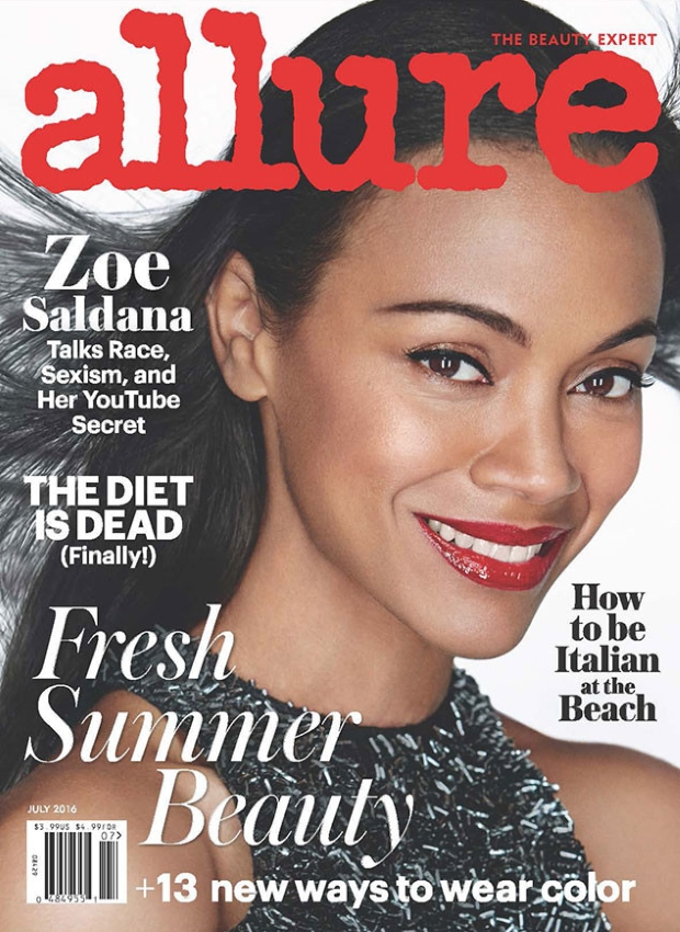 Allure July 2016 : Zoe Salanda by Patrick Demarchelier