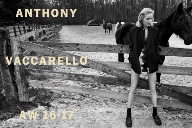 Anthony Vaccarello F/W 2016.17 : Eva Herzigova by Inez & Vinoodh