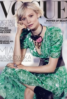 (Mostly) Rave Reviews for Mia Wasikowska's Vogue Australia Cover (Forum Buzz)
