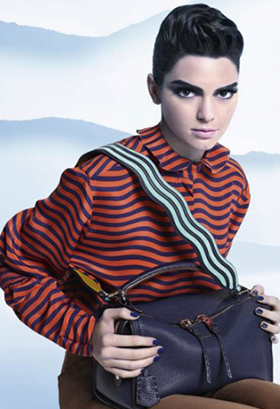 Kendall Jenner stars in Fendi's Fall 2016 ads, shot by Karl Lagerfeld.