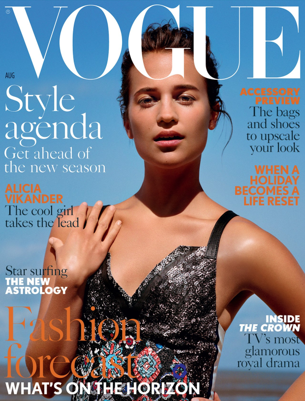 UK Vogue August 2016 : Alicia Vikander by Alasdair McLellan