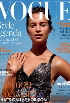 'Cool Girl' Alicia Vikander Is a 'Letdown' on UK Vogue's August Cover (Forum Buzz)