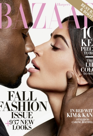 US Harper's Bazaar September 2016 : Kim Kardashian & Kanye West by Karl Lagerfeld