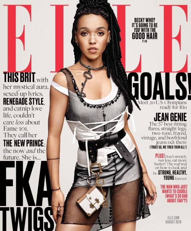 US Elle August 2016 : FKA Twigs by Paola Kudacki