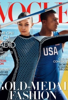 Gigi Hadid Graces Vogue's August Cover, Alongside Olympic Athlete Ashton Eaton (Forum Buzz)