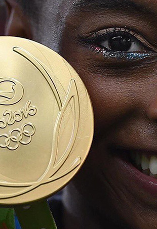 Simone Biles could've won that gold medal with or without glittery eyeliner.
