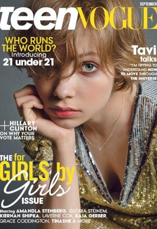 Teen Vogue September 2016 : Tavi Gevinson by Inez van Lamsweerde & Vinoodh Matadin