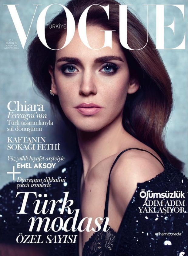 Vogue Turkey August 2016 : Chiara Ferragni by Miguel Reveriego