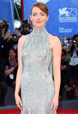 VENICE, ITALY - AUGUST 31: Emma Stone attends the opening ceremony and premiere of 'La La Land' during the 73rd Venice Film Festival at Sala Grande on August 31, 2016 in Venice, Italy. (Photo by Venturelli/WireImage)