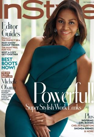US InStyle October 2016 : Michelle Obama by Thomas Whiteside