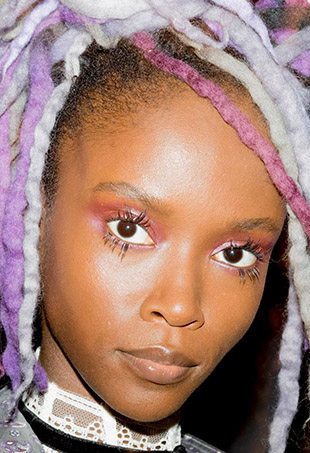 Models wore wool dreadlocks for Marc Jacobs' Spring 2017 show.