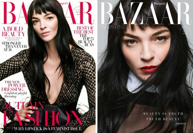 UK Harper's Bazaar October 2016 : Mariacarla Boscono by Nico Bustos