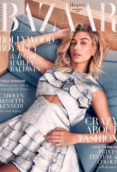 Hailey Baldwin Relaxes on the Cover of Harper's Bazaar Australia for November (Forum Buzz)
