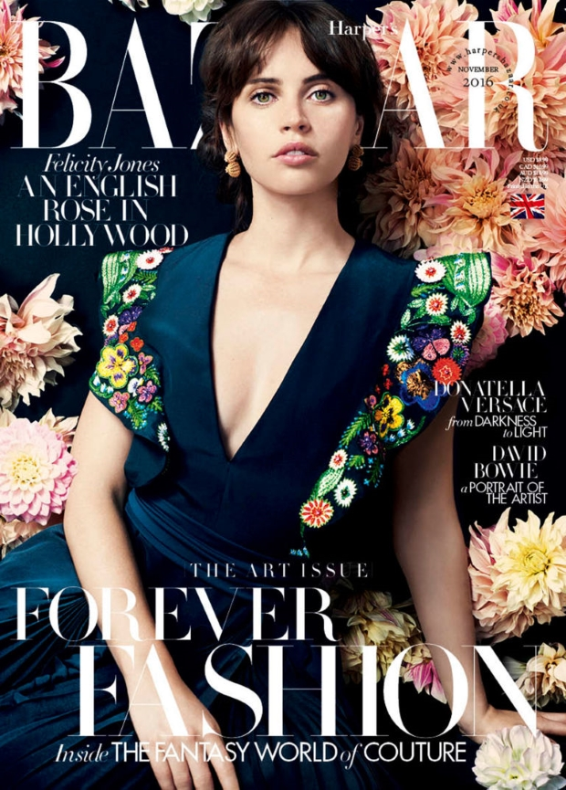 UK Harper's Bazaar November 2016 : Felicity Jones by David Slijper