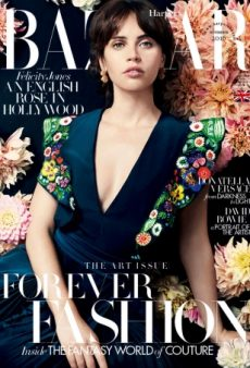 Actress Felicity Jones Makes Her UK Harper's Bazaar Debut (Forum Buzz)