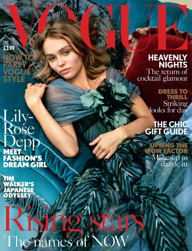 UK Vogue December 2016 : Lily-Rose Depp by Bruce Weber