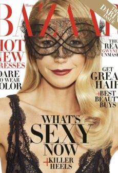 A Masked Gwyneth Paltrow Stars on Harper's Bazaar's November Issue (Forum Buzz)