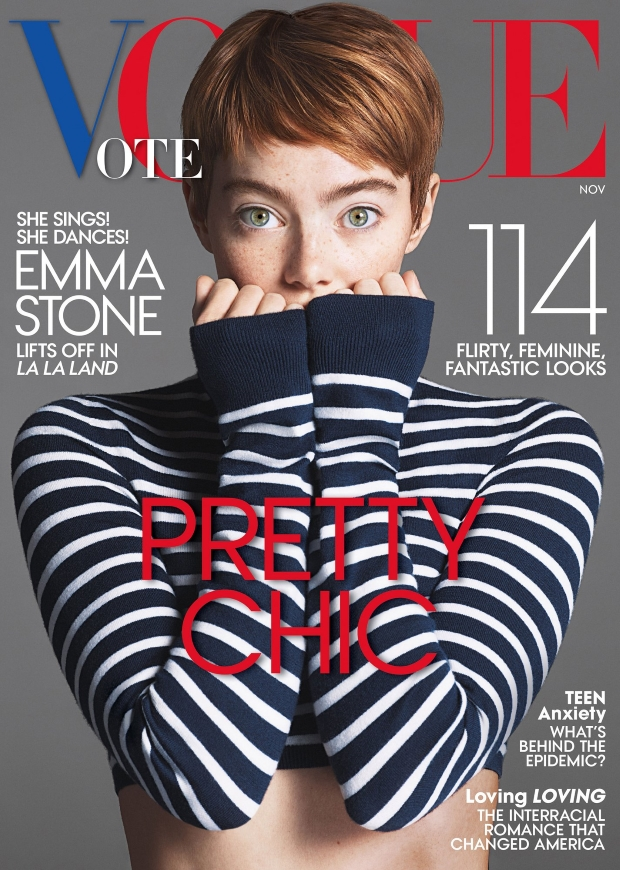 US Vogue November 2016 : Emma Stone by Mert Alas & Marcus Piggott