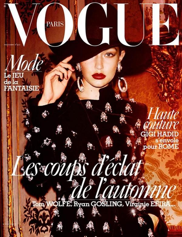Vogue Paris November 2016 : Gigi Hadid by Mario Testino