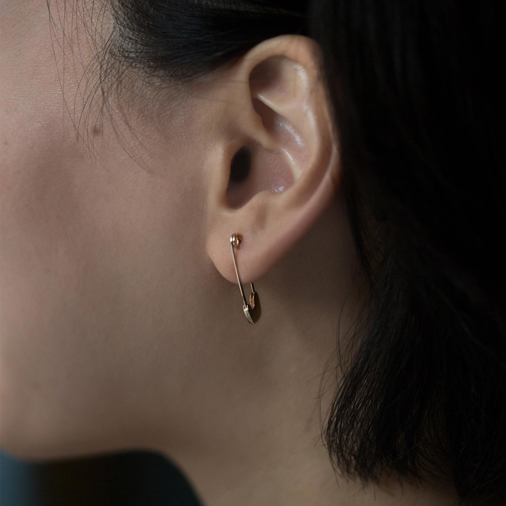 Gillian Conroy Gold Safety Pin Earring, $275 at Catbird.