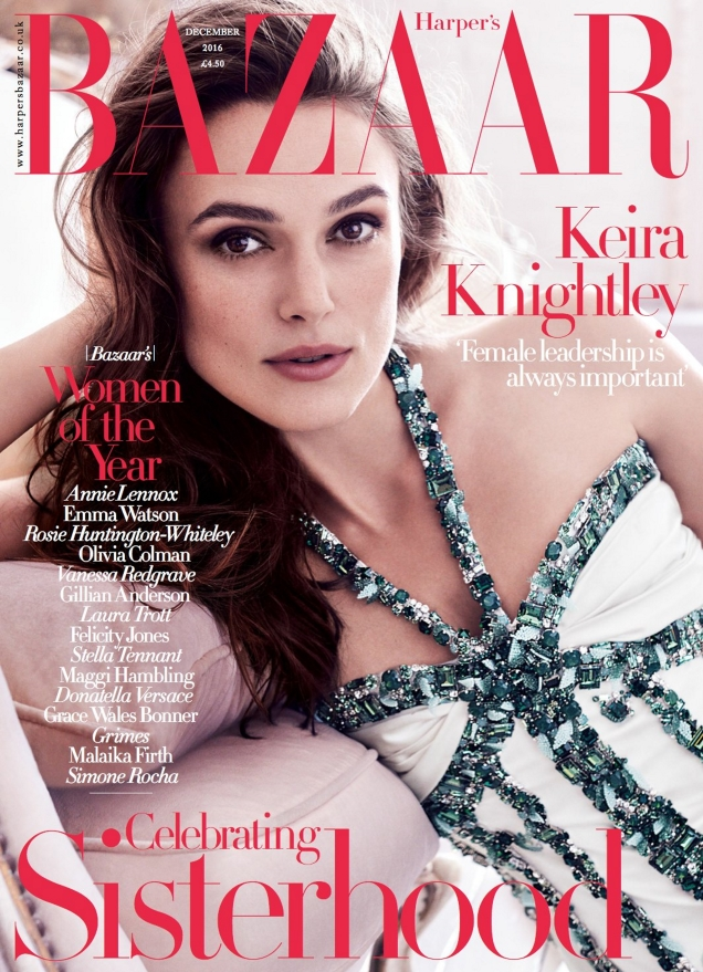 UK Harper's Bazaar December 2016 : Keira Knightley by Alexi Lubomirski